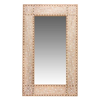 Grand Zellige Bone Inlay Mirror For Sale