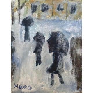 "Impressionist ""Winter Landscape"" After Monet Original Oil Painting For Sale"