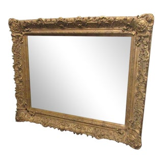 Large Gold Carved Mirror For Sale