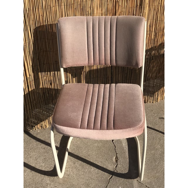 Fabric 1960s Vintage Marcel Breuer by Knoll Pink Dining Chairs- 4 Pieces For Sale - Image 7 of 8
