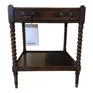 Robert Allen Mahogany Spooled Legs End Table For Sale