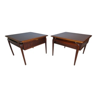 60s Warren Church for Lane Perception Kagan Side Tables - a Pair For Sale