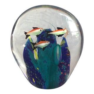 Mid-Century Murano Art Glass Aquarium Sculpture For Sale