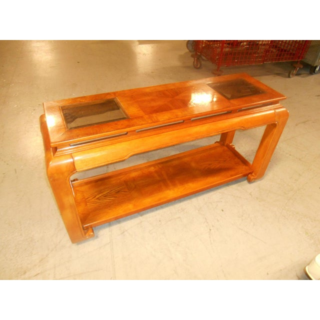 Mid-Century Modern Mid-Century Mod Floating-Top Console For Sale - Image 3 of 6