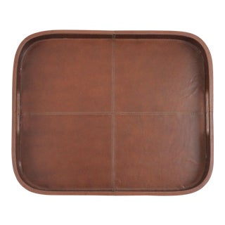 Brown Leather Bar Tray