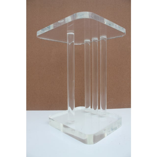 Mid-Century Modern Lucite Side Table - Image 4 of 11