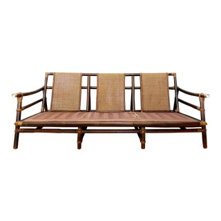 1950's Mid-Century Modern John Wisner for Ficks Reed Sofa For Sale