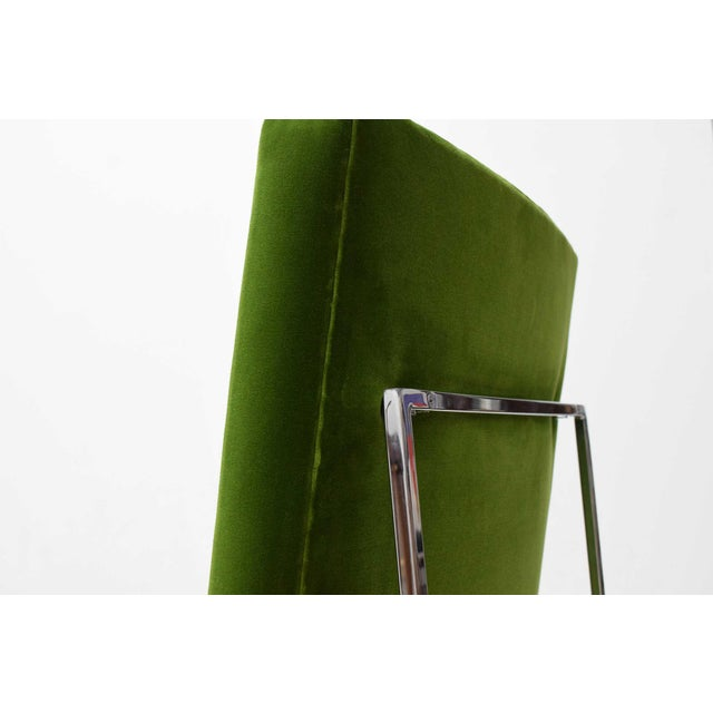 1970s Vintage Milo Baughman Dining Chairs in Italian Velvet - Set of 8 For Sale - Image 10 of 11