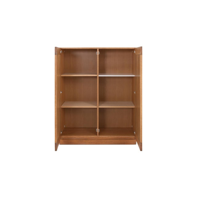 Minimalist Natural Oak Bar Cabinet For Sale - Image 6 of 12