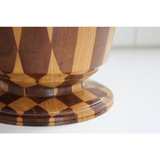 Lidded Wooden Pedestal Bowl - Image 4 of 10