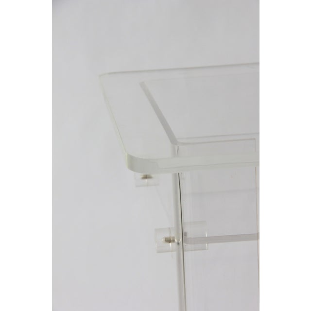Vintage Lucite Media Console / Bar - Image 6 of 8