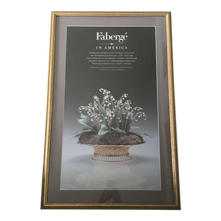 Faberge in America Exhibition 1996-1997 Tour Poster With Gold Frame- Rare! For Sale