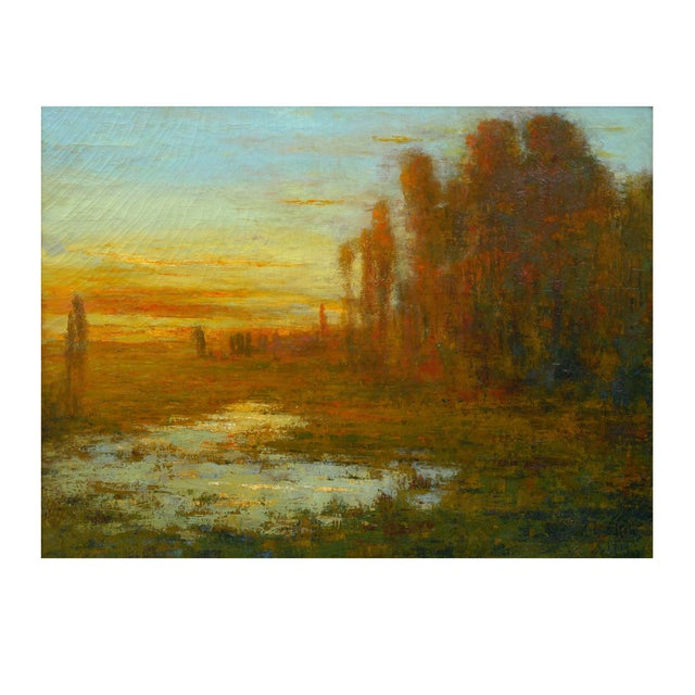 """September Harmony"" (1910) Tonalist Painting Oil on Canvas by Karl Emil Termöhlen For Sale - Image 13 of 13"