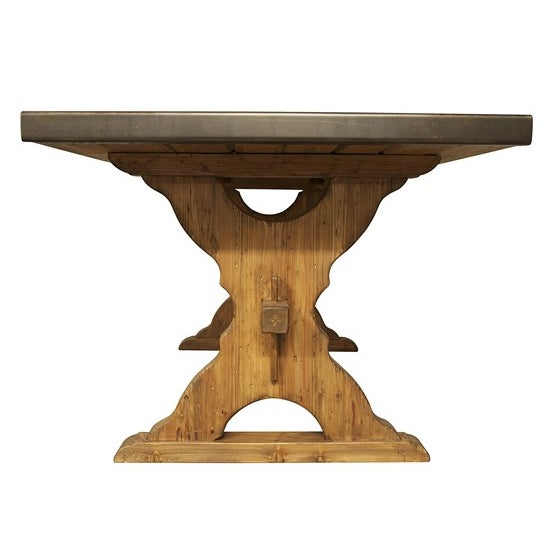 This table was used in one model apartment staging, and is otherwise new, approx. 12 months old. Classic European charm...