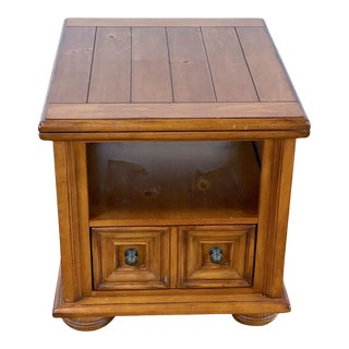 Vintage Broyhill Wooden End Table For Sale