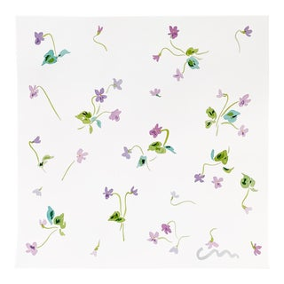 Violets Original Watercolor Painting For Sale