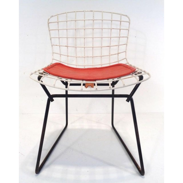 Mid-Century Modern Black & White Harry Bertoia for Knoll Small Children's Chair For Sale - Image 3 of 12