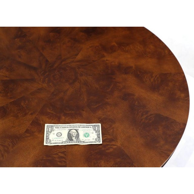 Flame Mahogany Round Top Lamp Table by Century For Sale - Image 10 of 13