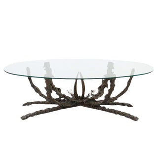 Brutalist Bronze Marine Coral Reef Coffee Table