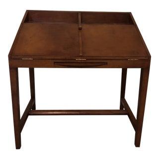 Crate & Barrel Leather Secretary Desk For Sale