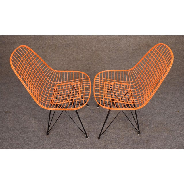 Vintage Herman Miller for Eamer Mid-Century Dkr Orange Chairs - Image 4 of 11
