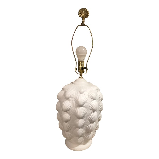 Vintage Clam Shell Plaster Lamp For Sale