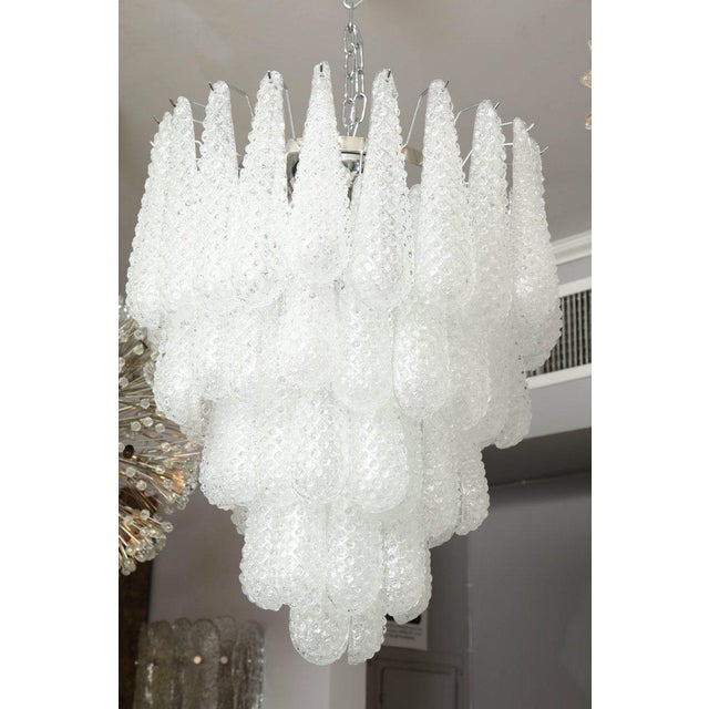 2010s Murano Glass Honeycomb Chandelier For Sale - Image 5 of 7