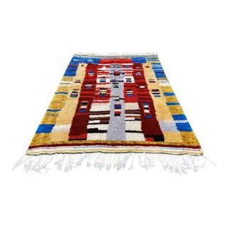 Modern Moroccan Contemporary Rug - 6′6″ × 9′2″ For Sale