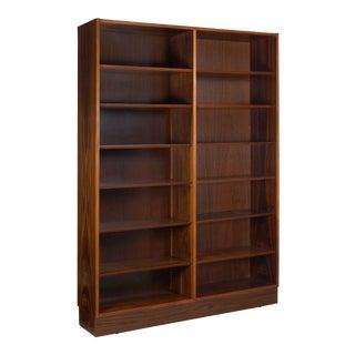 Circa 1960s Danish Modern Rosewood Bookcase Bookshelf by Poul Hundevad For Sale