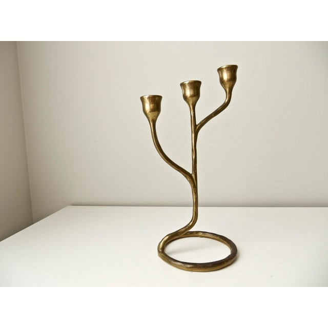 Modern Solid Brass Candlestick - Image 2 of 6