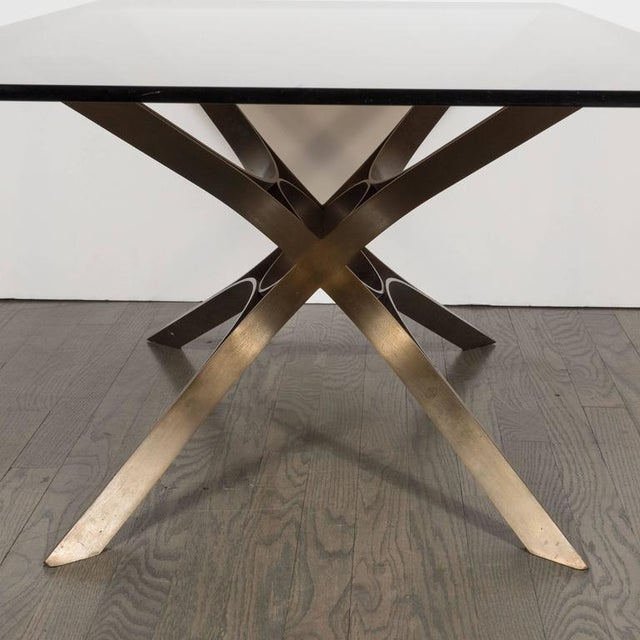 This stunning Mid-Century Modern cocktail table was realized the esteemed American designer Roger Sprunger for Dunbar...