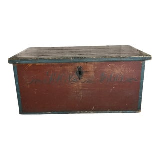 Vintage Antique Swedish Trunk