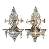 Image of Early 20th Century Antique Gothic Wall Sconces - a Pair For Sale