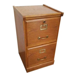 Vintage 2 Drawer Locking File Cabinet