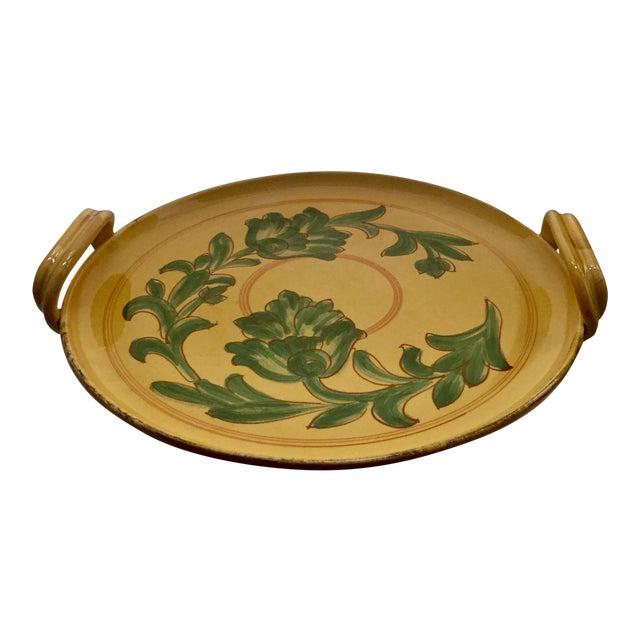 Vintage Carciofi for William Sonoma Italian Hand-Painted Ceramic Platter - Image 2 of 6