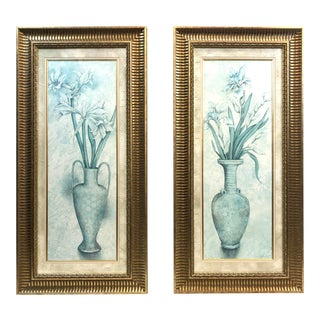 """""""Flowers in Vases"""" Prints - a Pair For Sale"""