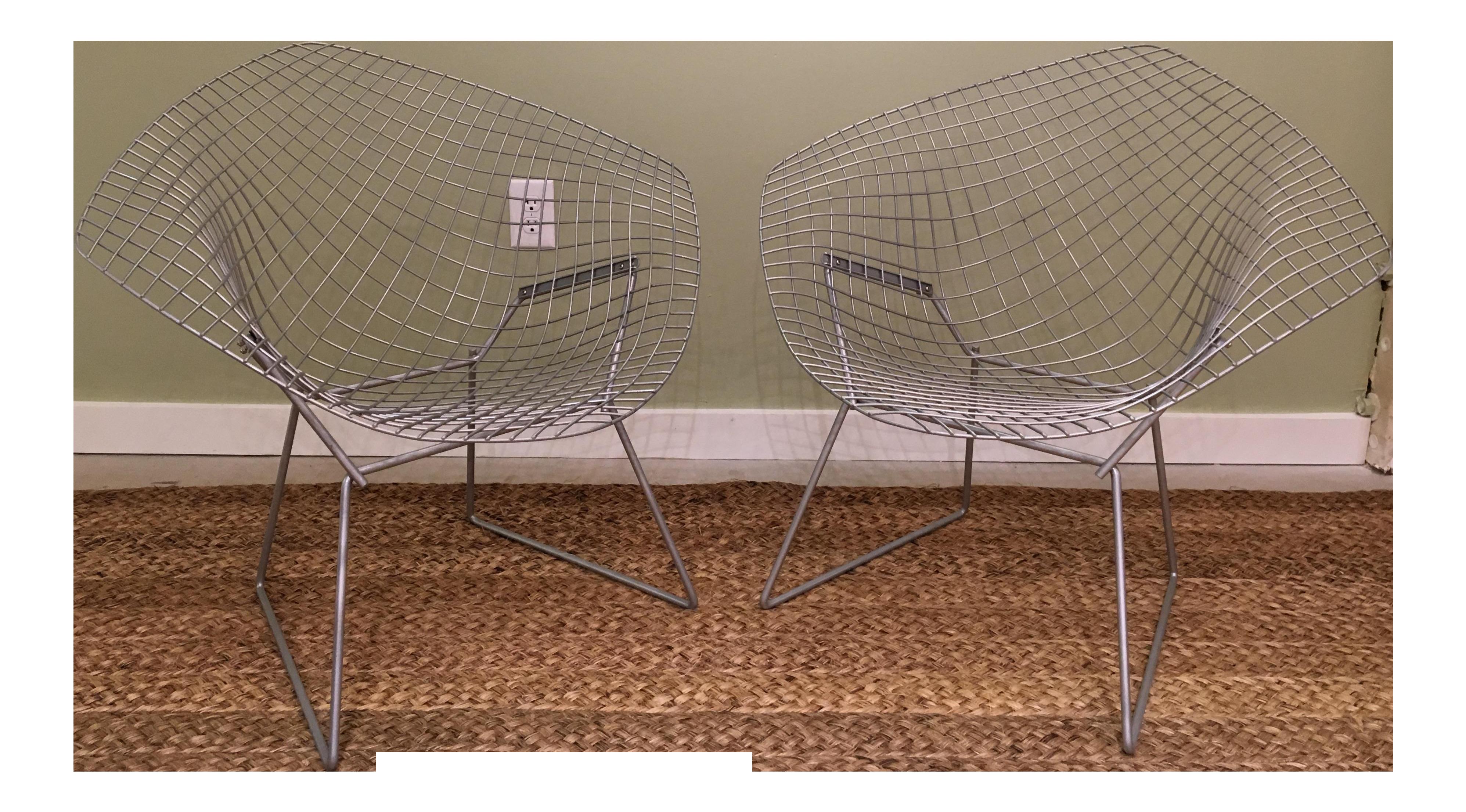 Vintage Harry Bertoia Diamond Chairs For Sale
