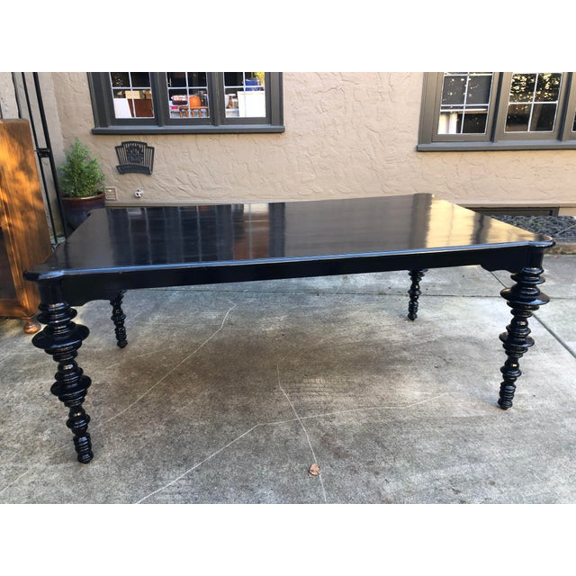Noir Mediterranean Noir Ferret Dining Table For Sale - Image 4 of 13