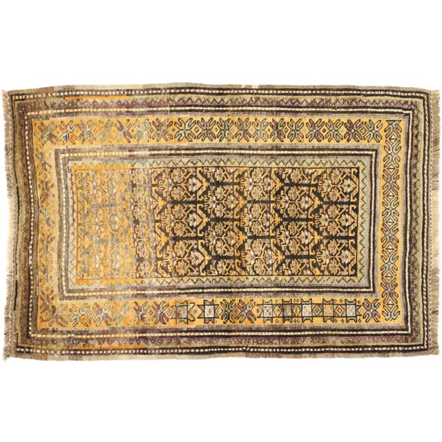 Vintage Shiraz Persian Tribal Rug With Mid-Century Modern Style - 3'6 X 5'4 For Sale In Dallas - Image 6 of 8