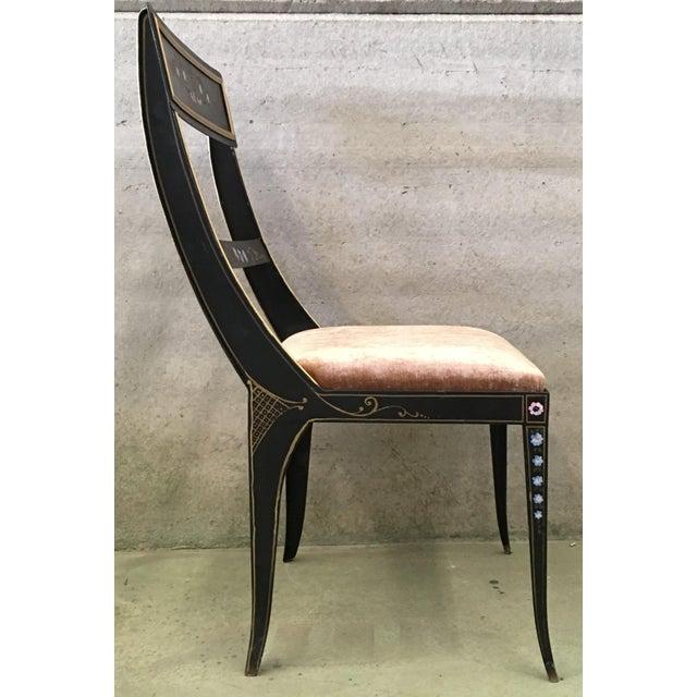 Black Vintage Early Regency Gustavian Bellman Chairs- Set of 6 For Sale - Image 8 of 10