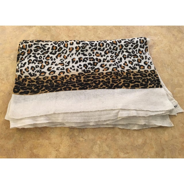 Large Thin Leopard Cashmere Throw - Image 2 of 10