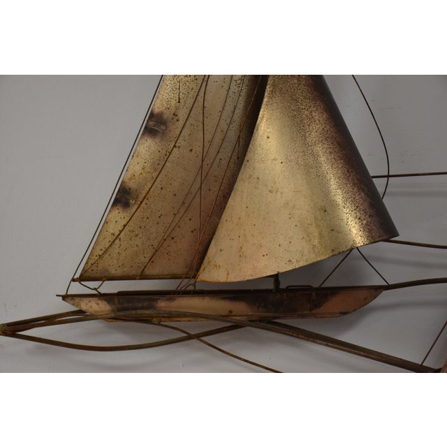 Curtis Jere Curtis Jere Sailboat Wall Hanging Sculpture For Sale - Image 4 of 11