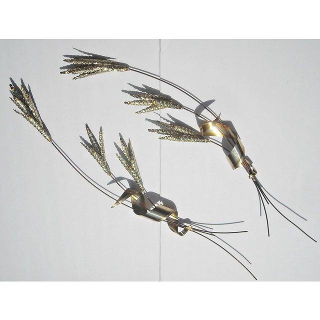 Mid Century Tole Wheat Sculpture, C. Jere Style - Image 2 of 5