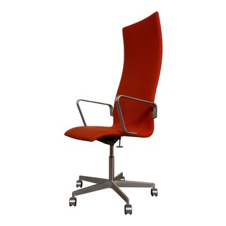 Authentic Arne Jacobsen for Fritz Hansen Oxford Rolling Office Chair For Sale