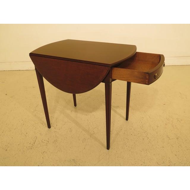 Mahogany 1940s Federal Kittinger Vintage Mahogany Drop Leaf Pembroke Table For Sale - Image 7 of 13