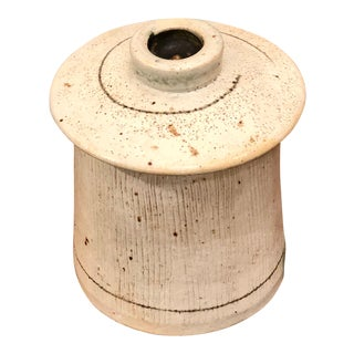 Vintage Studio Ceramic Lidded Jar For Sale
