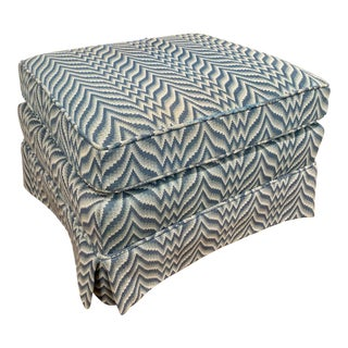 Baker Bargello Skirted Ottoman For Sale