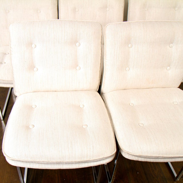 1970s Milo Baughman for Thayer Coggin Chrome Dining Chairs For Sale - Image 5 of 10
