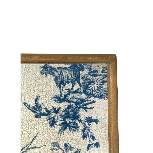 Antique Blue & White Toile Box - Image 7 of 9