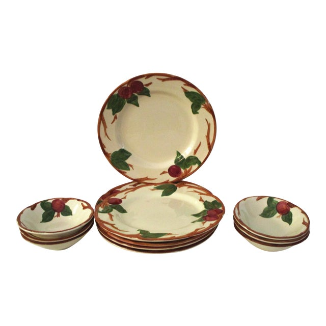 Franciscan Apple Dinner Plates & Coupe Bowls - Set of 12 For Sale